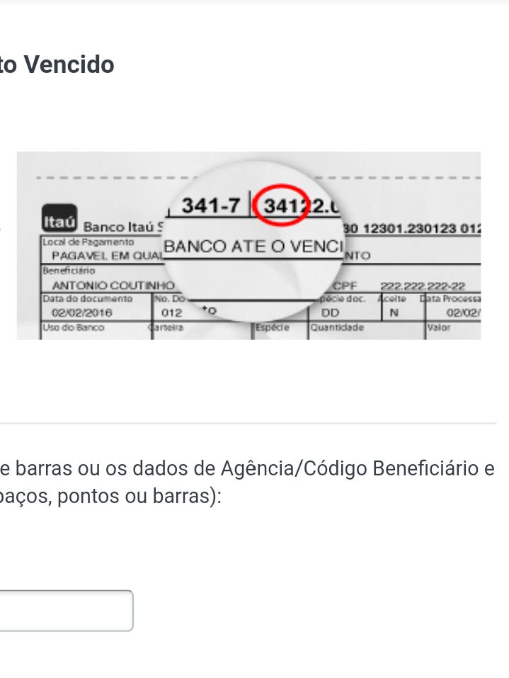 Boleto bancário do Itaú Unibanco