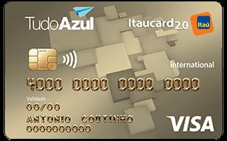 Cartão azul Itaú